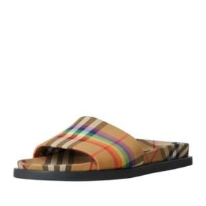 Burberry Ashmore Low-Top Rainbow Slide Sandal